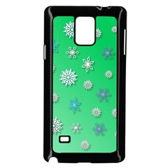 Snowflakes Winter Christmas Overlay Samsung Galaxy Note 4 Case (black) by Onesevenart