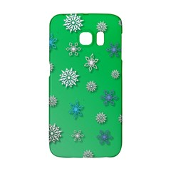 Snowflakes Winter Christmas Overlay Galaxy S6 Edge by Onesevenart