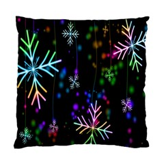 Snowflakes Snow Winter Christmas Standard Cushion Case (one Side) by Onesevenart