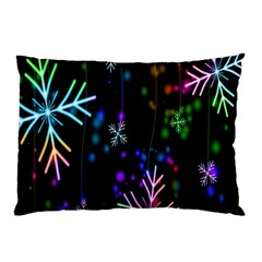 Snowflakes Snow Winter Christmas Pillow Case (two Sides) by Onesevenart