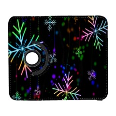 Snowflakes Snow Winter Christmas Galaxy S3 (flip/folio) by Onesevenart