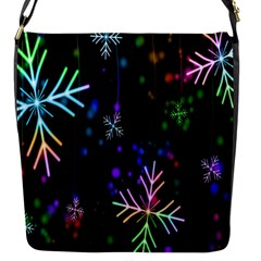 Snowflakes Snow Winter Christmas Flap Messenger Bag (s) by Onesevenart
