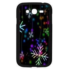 Snowflakes Snow Winter Christmas Samsung Galaxy Grand Duos I9082 Case (black) by Onesevenart