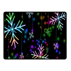 Snowflakes Snow Winter Christmas Double Sided Fleece Blanket (small)  by Onesevenart