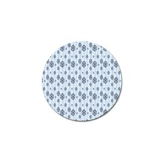 Snowflakes Winter Christmas Card Golf Ball Marker by Onesevenart