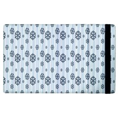 Snowflakes Winter Christmas Card Apple Ipad 3/4 Flip Case by Onesevenart