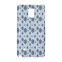 Snowflakes Winter Christmas Card Samsung Galaxy Note 4 Hardshell Case by Onesevenart