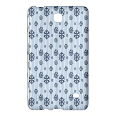 Snowflakes Winter Christmas Card Samsung Galaxy Tab 4 (8 ) Hardshell Case  by Onesevenart