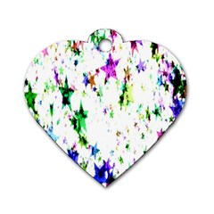 Star Abstract Advent Christmas Dog Tag Heart (one Side) by Onesevenart
