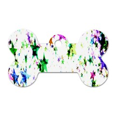 Star Abstract Advent Christmas Dog Tag Bone (two Sides) by Onesevenart