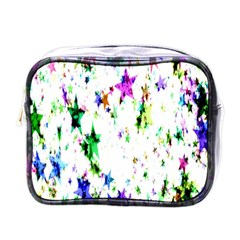 Star Abstract Advent Christmas Mini Toiletries Bags by Onesevenart