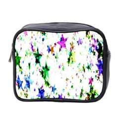 Star Abstract Advent Christmas Mini Toiletries Bag 2 Side by Onesevenart