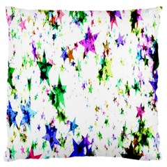 Star Abstract Advent Christmas Large Cushion Case (one Side) by Onesevenart