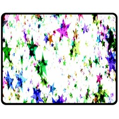Star Abstract Advent Christmas Double Sided Fleece Blanket (medium)  by Onesevenart
