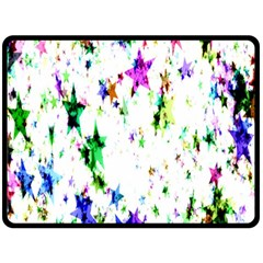 Star Abstract Advent Christmas Double Sided Fleece Blanket (large)  by Onesevenart