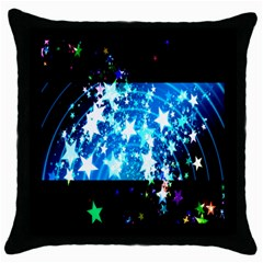 Star Abstract Background Pattern Throw Pillow Case (black) by Onesevenart