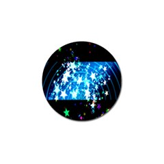 Star Abstract Background Pattern Golf Ball Marker by Onesevenart