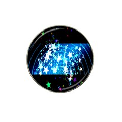 Star Abstract Background Pattern Hat Clip Ball Marker (10 Pack) by Onesevenart