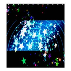 Star Abstract Background Pattern Shower Curtain 66  X 72  (large)  by Onesevenart