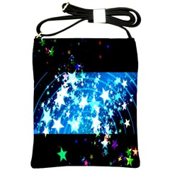 Star Abstract Background Pattern Shoulder Sling Bags by Onesevenart