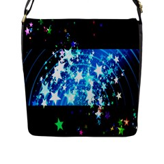 Star Abstract Background Pattern Flap Messenger Bag (l)  by Onesevenart