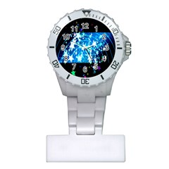 Star Abstract Background Pattern Plastic Nurses Watch by Onesevenart