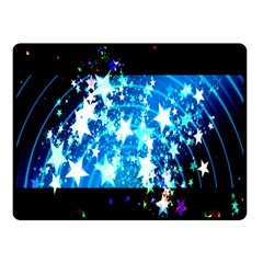 Star Abstract Background Pattern Double Sided Fleece Blanket (small)  by Onesevenart