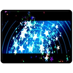 Star Abstract Background Pattern Double Sided Fleece Blanket (large)  by Onesevenart