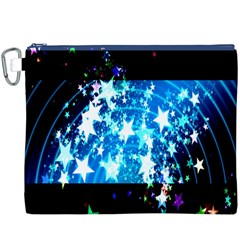 Star Abstract Background Pattern Canvas Cosmetic Bag (xxxl) by Onesevenart