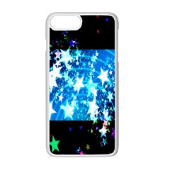 Star Abstract Background Pattern Apple Iphone 7 Plus White Seamless Case by Onesevenart