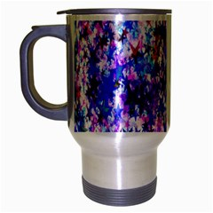 Star Abstract Advent Christmas Travel Mug (silver Gray) by Onesevenart