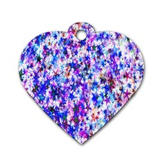 Star Abstract Advent Christmas Dog Tag Heart (two Sides) by Onesevenart