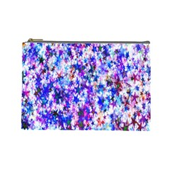 Star Abstract Advent Christmas Cosmetic Bag (large)  by Onesevenart