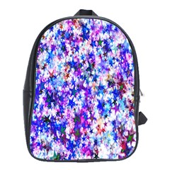 Star Abstract Advent Christmas School Bag (xl) by Onesevenart