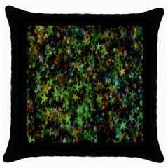Star Abstract Advent Christmas Throw Pillow Case (black) by Onesevenart