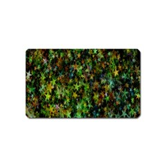 Star Abstract Advent Christmas Magnet (name Card) by Onesevenart