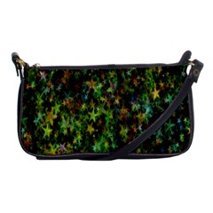 Star Abstract Advent Christmas Shoulder Clutch Bags by Onesevenart