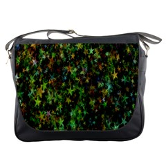 Star Abstract Advent Christmas Messenger Bags by Onesevenart