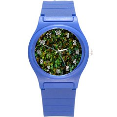 Star Abstract Advent Christmas Round Plastic Sport Watch (s) by Onesevenart