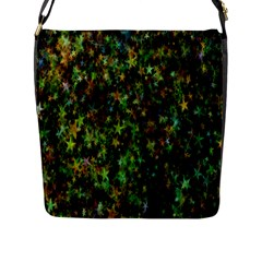 Star Abstract Advent Christmas Flap Messenger Bag (l)  by Onesevenart