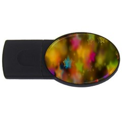 Star Background Texture Pattern Usb Flash Drive Oval (4 Gb) by Onesevenart