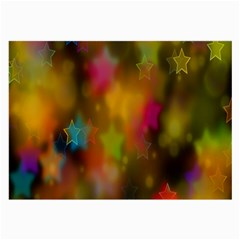 Star Background Texture Pattern Large Glasses Cloth (2 Side) by Onesevenart