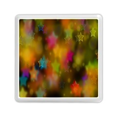 Star Background Texture Pattern Memory Card Reader (square)  by Onesevenart