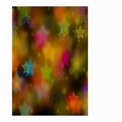 Star Background Texture Pattern Small Garden Flag (two Sides) by Onesevenart