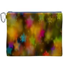 Star Background Texture Pattern Canvas Cosmetic Bag (xxxl) by Onesevenart
