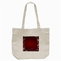 Star Background Christmas Red Tote Bag (cream) by Onesevenart