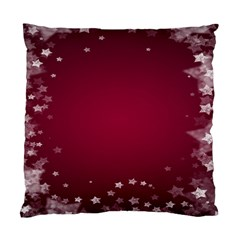 Star Background Christmas Red Standard Cushion Case (two Sides) by Onesevenart
