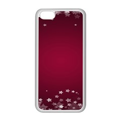 Star Background Christmas Red Apple Iphone 5c Seamless Case (white) by Onesevenart