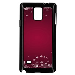 Star Background Christmas Red Samsung Galaxy Note 4 Case (black) by Onesevenart