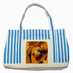 Alfons Mucha   Fruit Striped Blue Tote Bag